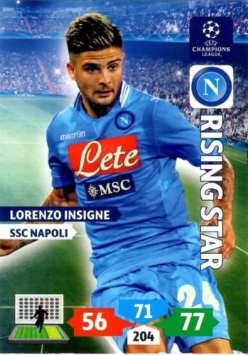 Champions League Adrenalyn XL 2013/2014 Lorenzo Insigne 13/14 Rising Star