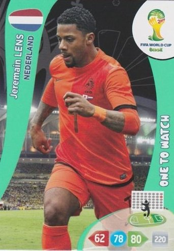 FIFA World Cup 2014 Brazil Adrenalyn XL Jeremain Lens One To Watch