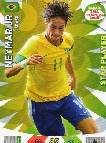 Adrenalyn XL Road To 2014 World Cup Brazil #25 Neymar Star Player