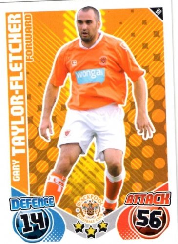 Gary TAYLOR-FLETCHER Blackpool Individual Match Attax 2010/11 Trading Card