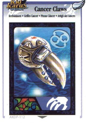 Kid Icarus Uprising AKDP 112 - Cancer Claws Silver Wing Rare Card