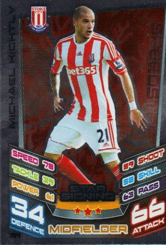 Match Attax 2012/2013 Star Signing Card - 394 Stoke City MICHAEL KIGHTLY
