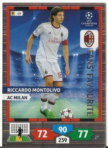 Champions League Adrenalyn XL 2013/2014 Riccardo Montolivo 13/14 Fans Favourite