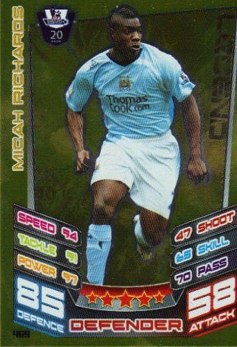 Match Attax 2012/2013 Legend Card - 469 Manchester City MICAH RICHARDS