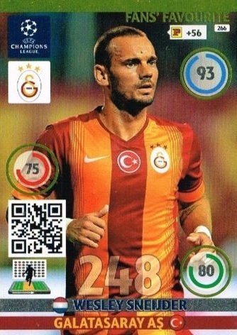 Champions League Adrenalyn XL 2014/2015 Wesley Sneijder 14/15 Fans Favourite