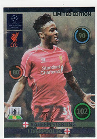 Champions League Adrenalyn XL 2014/2015 14/15 Raheem Sterling Limited Edition
