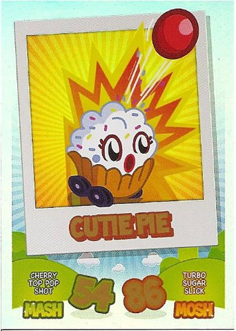 Topps Cutie Pie Rainbow Foil Card Moshi Monsters Mash Up Trading Card
