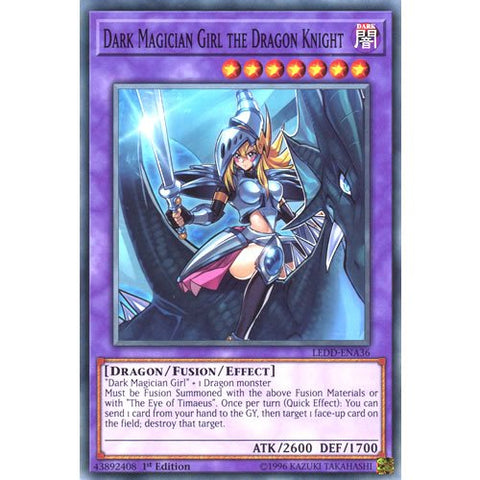 YuGiOh : LEDD-ENA36 1st Ed Dark Magician Girl the Dragon Knight Common Card - ( Legendary Dragon Decks Yu-Gi-Oh! Single Card )