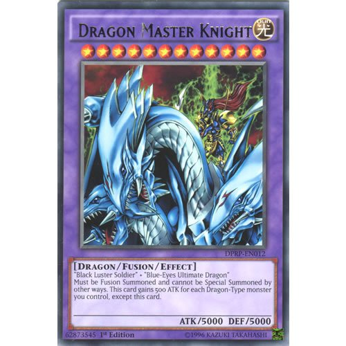 YuGiOh : DPRP-EN012 1st Ed Dragon Master Knight Rare Card - ( Yu-Gi-Oh! Single Card )