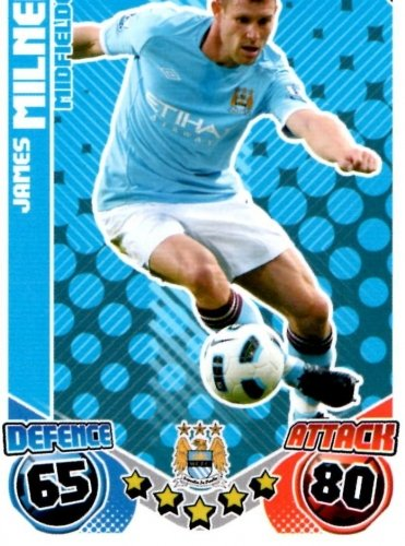 James MILNER Man City Individual Match Attax 2010/11 Trading Card