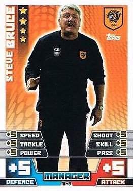 Match Attax Extra 2014/2015 Steve Bruce (Hull City) Manager/Head Coach 14/15