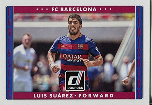 Donruss Soccer 2015 Fantastic Finishers Chase Card #9 Luis Suarez