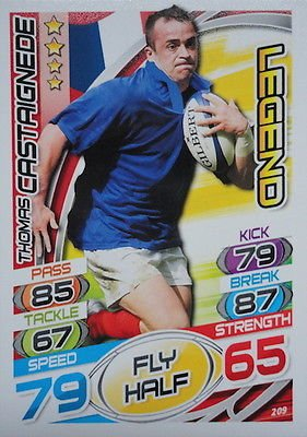 Topps Rugby Attax 2015 Thomas Castaignede Fly Half Legend Trading Card