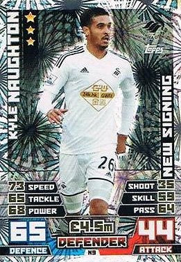 Match Attax Extra 2014/2015 Kyle Naughton (Swansea City) New Signing 14/15