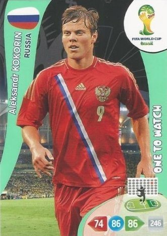 FIFA World Cup 2014 Brazil Adrenalyn XL Aleksandr Kokorin One To Watch
