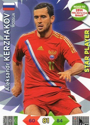 Adrenalyn XL Road To 2014 World Cup Brazil #164 Aleksandr Kerzhakov Star Player
