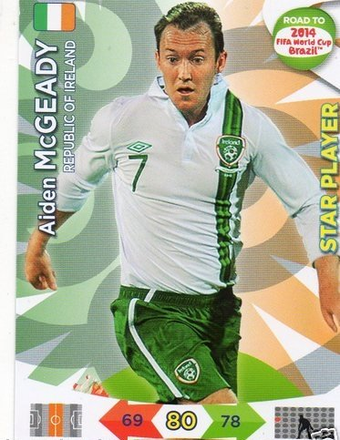 Adrenalyn XL Road To 2014 World Cup Brazil #115 Aiden McGeady Star Player