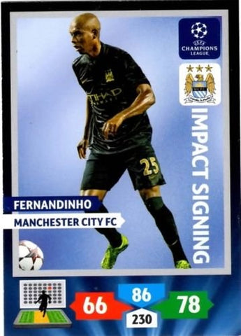 Champions League Adrenalyn XL 2013/2014 Fernandinho 13/14 Impact Signing