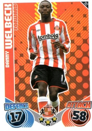 Danny WELBECK Sunderland Individual Match Attax 2010/11 Trading Card
