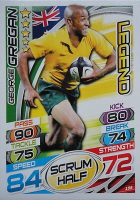 Topps Rugby Attax 2015 George Gregan Scrum Half Legend Trading Card