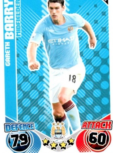 Gareth BARRY Man City Individual Match Attax 2010/11 Trading Card