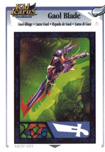Adrenalyn XL Kid Icarus Uprising AKDP 091 - Gaol Blade Silver Wing Rare Card