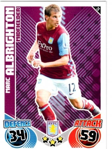 Marc ALBRIGHTON Aston Villa Individual Match Attax 2010/11 Trading Card