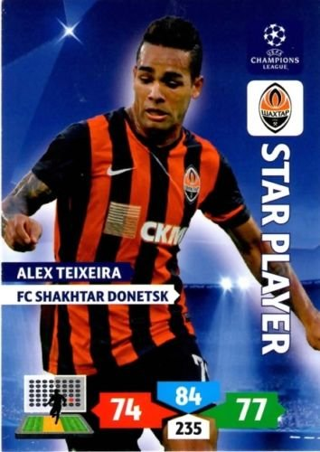 Champions League Adrenalyn XL 2013/2014 Alex Teixeira 13/14 Star Player