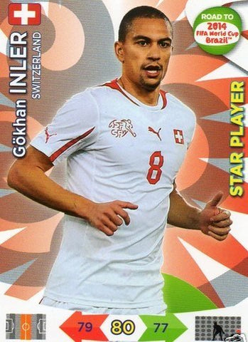 Adrenalyn XL Road To 2014 World Cup Brazil #178 Gokhan Inler Star Player
