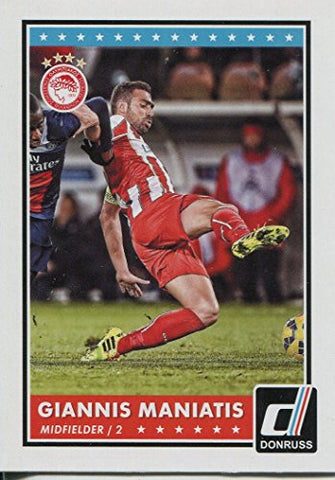 Donruss Soccer 2015 Base Card #75 Giannis Maniatis