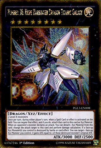 Yu-Gi-Oh! - Number 38: Hope Harbinger Dragon Titanic Galaxy (PGL3-EN008) - Premium Gold: Infinite Gold - 1st Edition - Gold Secret Rare by Yu-Gi-Oh!