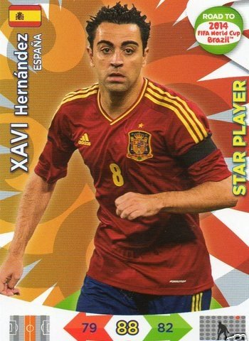 Adrenalyn XL Road To 2014 World Cup Brazil #82 Xavi Hernandez Star Player