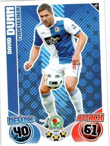 David DUNN Blackburn Individual Match Attax 2010/11 Trading Card
