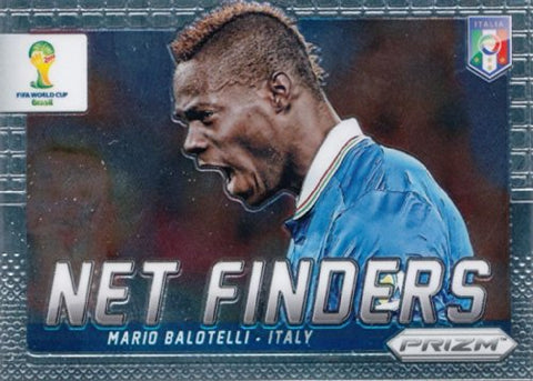 Prizm World Cup Panini Brazil 2014 Net Finder # 17 Mario Balotelli Italy