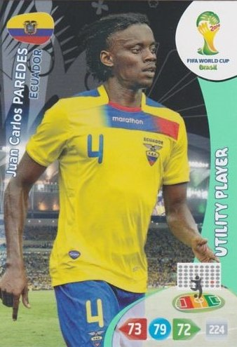 FIFA World Cup 2014 Brazil Adrenalyn XL Juan Carlos Paredes Utility Player