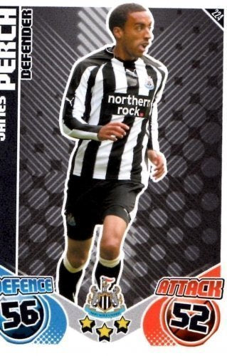 James PERCH Newcastle Individual Match Attax 2010/11 Trading Card