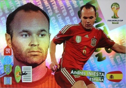 Adrenalyn XL FIFA World Cup 2014 Brazil Andres Iniesta Limited Edition