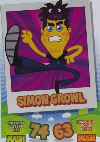 Topps No.149 Simon Growl Rainbow Foil Card Moshi Monsters Mash Up Trading Card