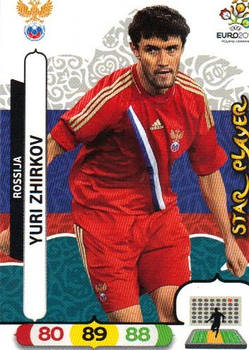 EURO 2012 Adrenalyn XL Panini STAR PLAYERS - Yuri Zhirkov