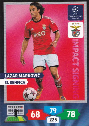 Champions League Adrenalyn XL 2013/2014 Lazar Markovic 13/14 Impact Signing