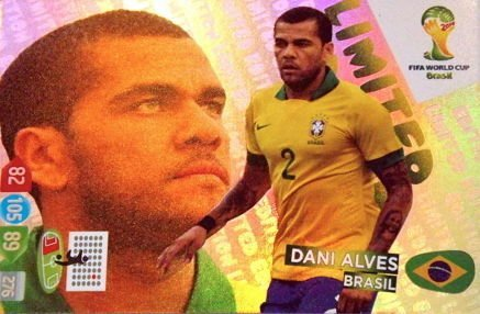 FIFA World Cup 2014 Brazil Adrenalyn XL Dani Alves Limited Edition