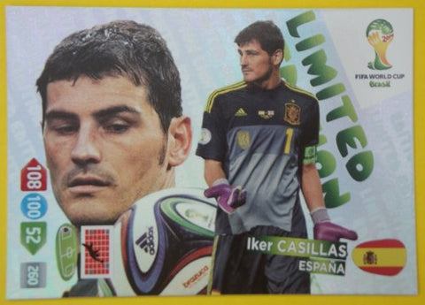 Casillas Spain FIFA World Cup 2014 Brazil Panini Adrenalyn XL Limited Edition