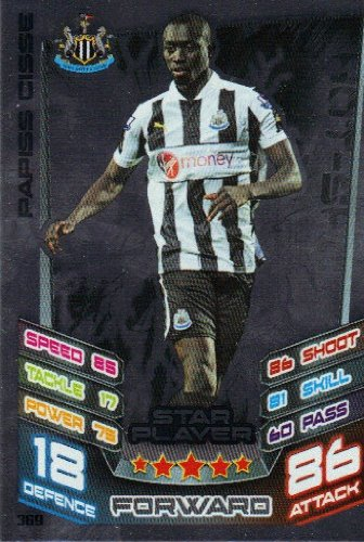 Match Attax 2012/2013 Star Player Card - 369 Newcastle United PAPISS CISSE