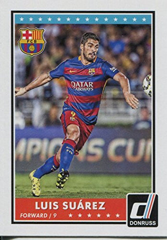 Donruss Soccer 2015 Base Card #70 Luis Suarez