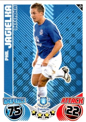Phil JAGIELKA Everton Individual Match Attax 2010/11 Trading Card