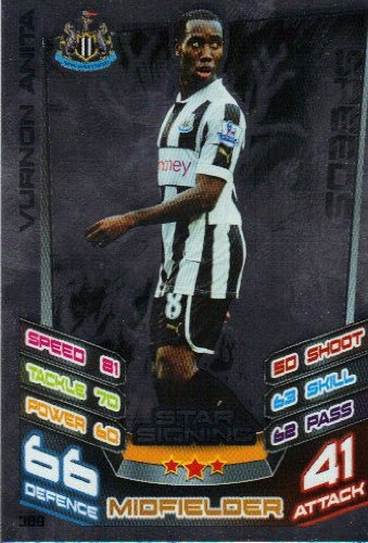 Match Attax 2012/2013 Star Signing Card - 389 Newcastle United VURNON ANITA