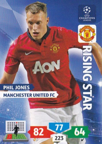 Champions League Adrenalyn XL 2013/2014 Phil Jones 13/14 Rising Star