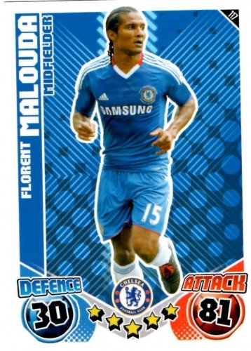 Florent MALOUDA Chelsea Individual Match Attax 2010/11 Trading Card