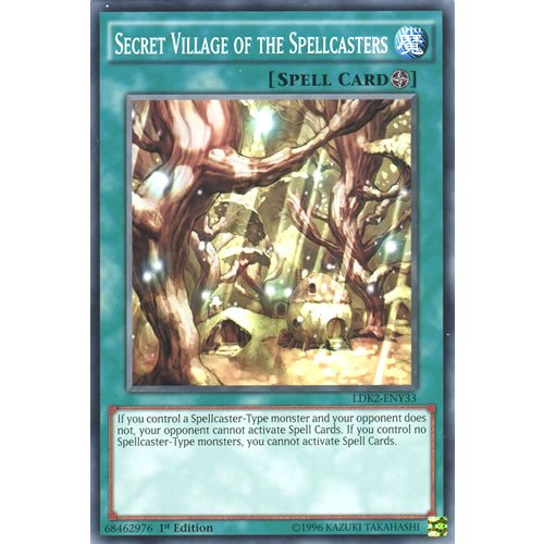 YuGiOh : LDK2-ENY33 Limited Ed Secret Village of the Spellcasters Common Card - ( Yu-Gi-Oh! Single Card )