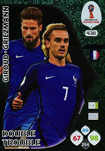 Panini Adrenalyn XL World cup 2018 Double Trouble card - 438 Giroud - Griezmann
